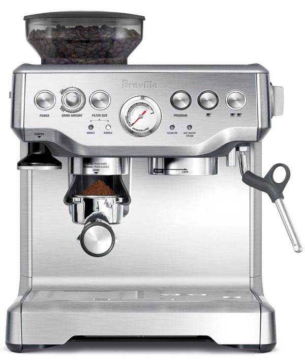 breville coffee machine with grinder
