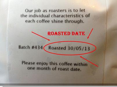 Roasting Date on Label